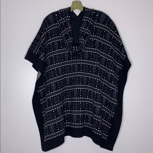 Haute Hippie Jackets & Coats - Haute Hippie Skull Hooded Poncho O/S Fits All